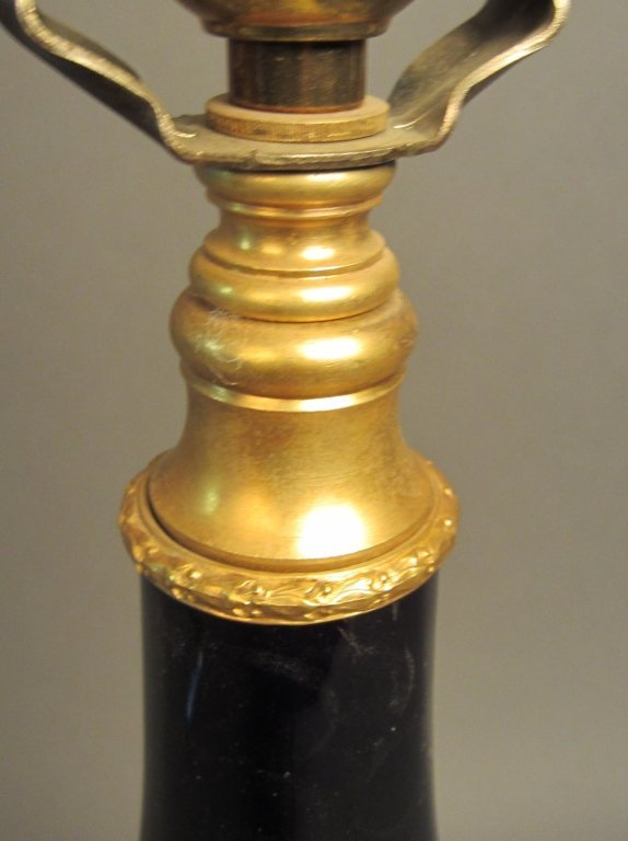 40: Cobalt Blue Vase as Lamp with Dore Mountings - 4
