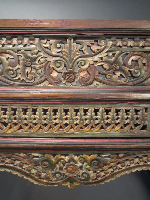 247: Large Carved & Painted Chinese Temple Panel - 3