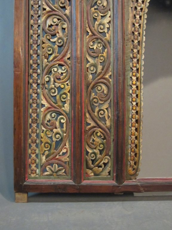247: Large Carved & Painted Chinese Temple Panel - 4