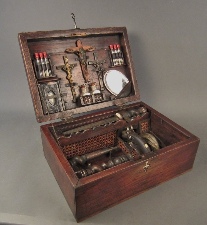 305: Vampire Killing Kit Chest, Continental circa 1900