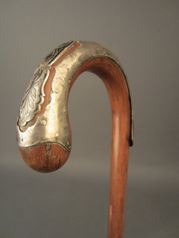 Antique Walking Stick w/ Sterling Silver Mountings