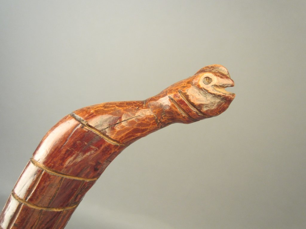 Antique Twisted Walking Stick in Form of Snake
