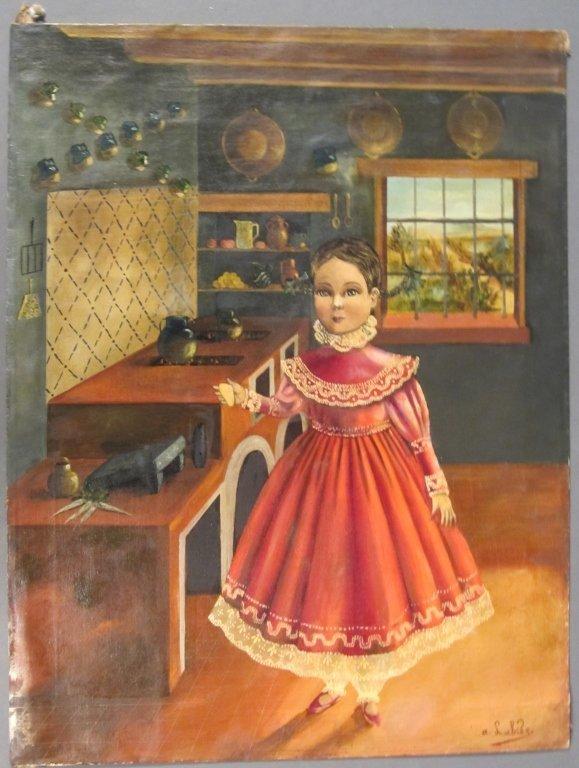 22: Folk Art Mexican Girl Portrait