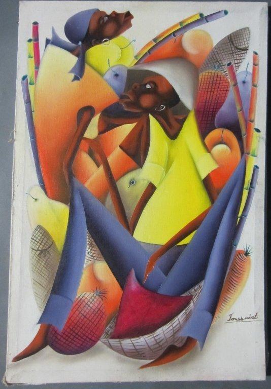23: Toussaint, Hatian Mid Century Modern, O/C