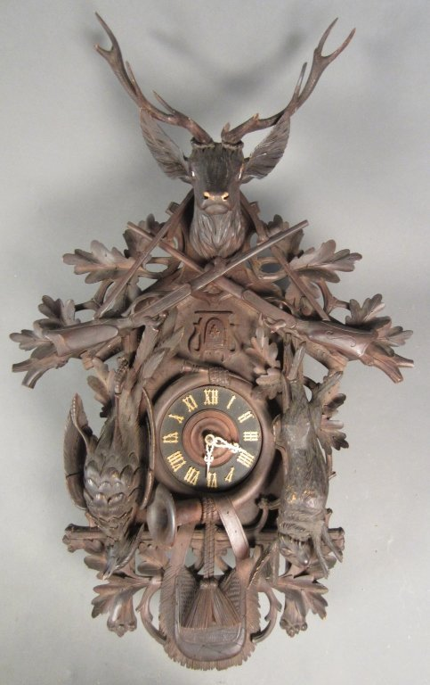 381: Large Swiss Carved Cuckoo Clock