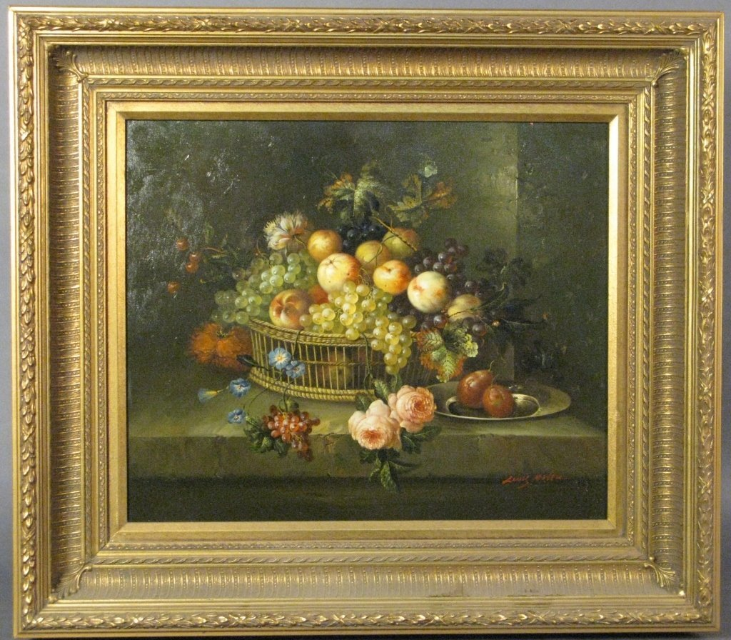 Contemporary Still Life of Fruits & Flowers