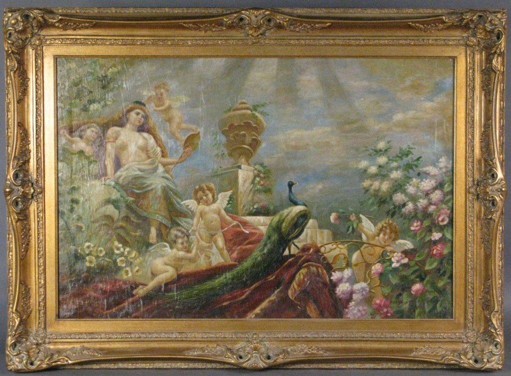 Attrib to: H. Sylvie, Venus w/ Cupids in Garden