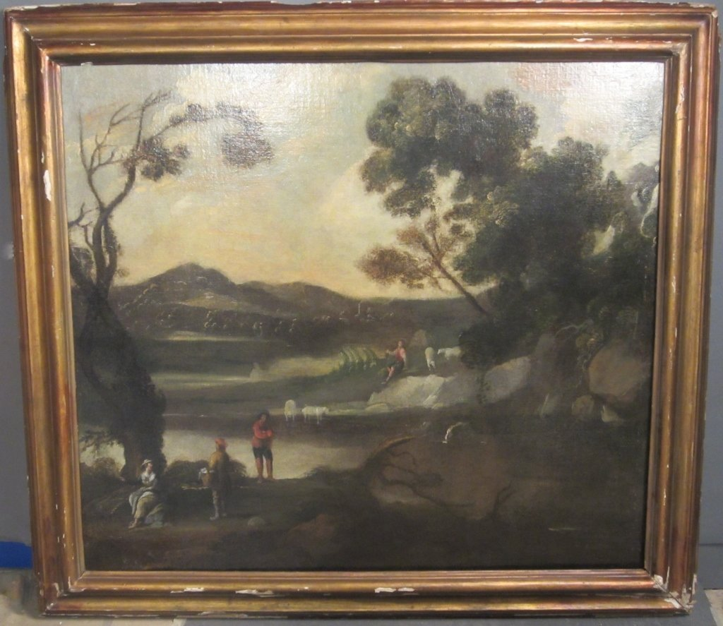 17th/ 18th C Old Master, Figures In Landscape