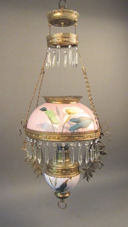 Early American Style Oil Light Library Chandelier