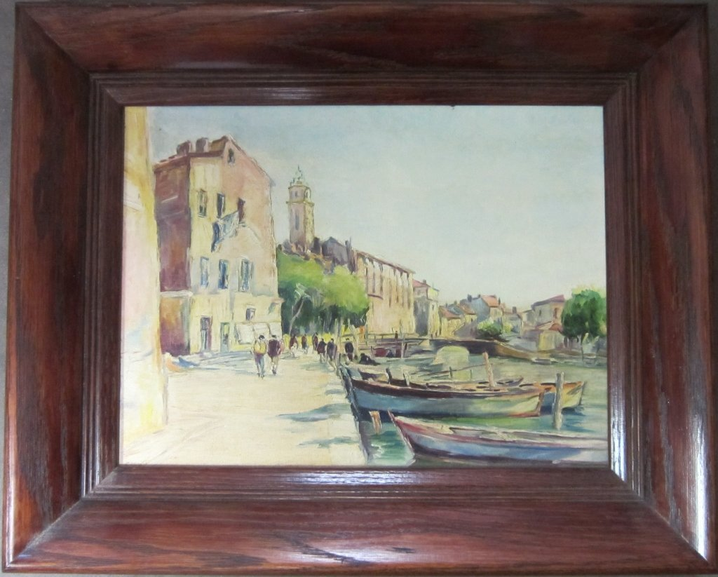 3: Canal Scene, Signed O/B