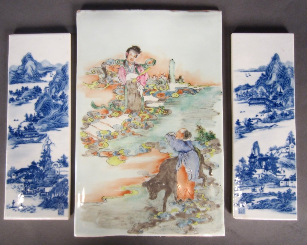 239: 3 Chinese Porcelain Plaques