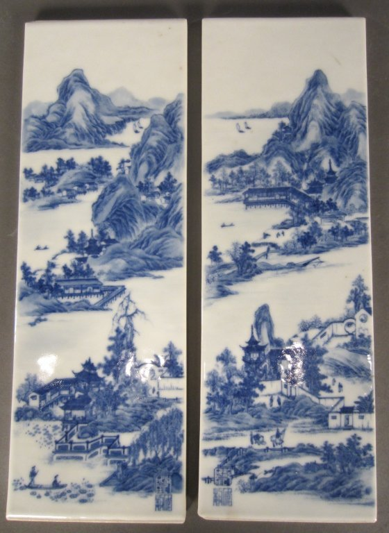 239: 3 Chinese Porcelain Plaques - 2