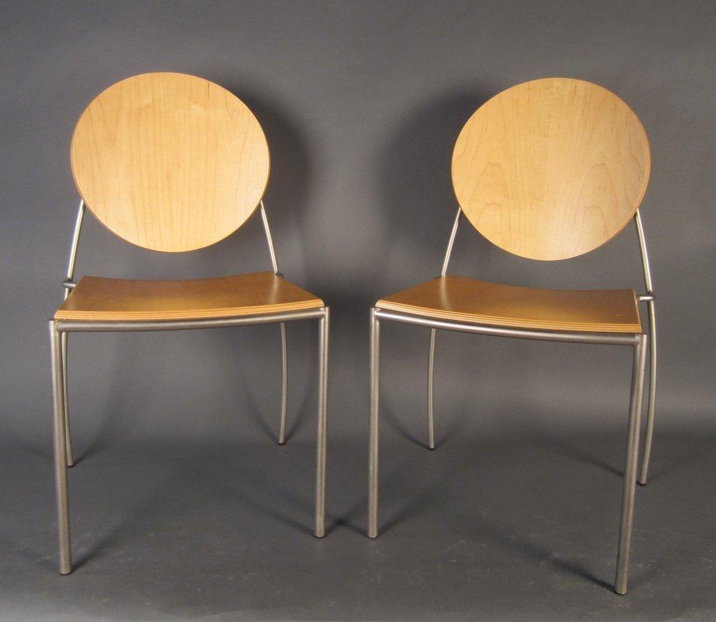 Pair Dakota Jackson Vik-ter II Stacking Chairs