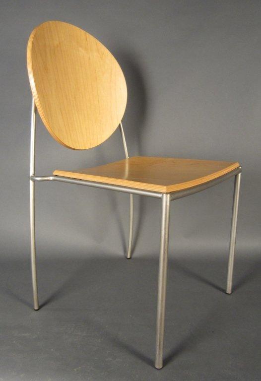 Pair Dakota Jackson Vik-ter II Stacking Chairs - 2