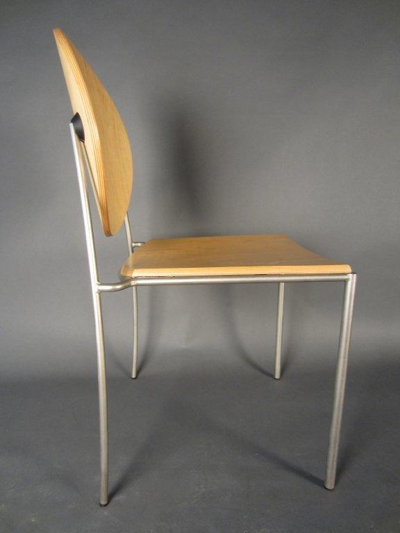 Pair Dakota Jackson Vik-ter II Stacking Chairs - 3