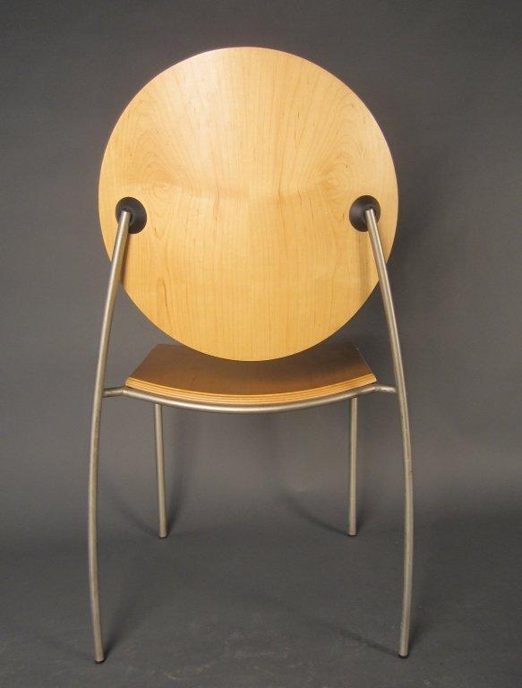 Pair Dakota Jackson Vik-ter II Stacking Chairs - 4