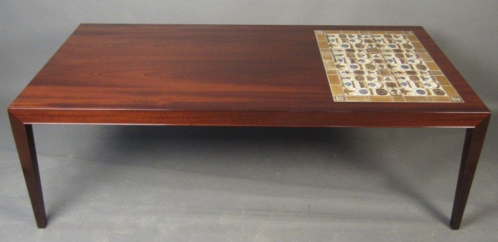 Danish Mahogany Coffee Table w/ Kakler Tiles