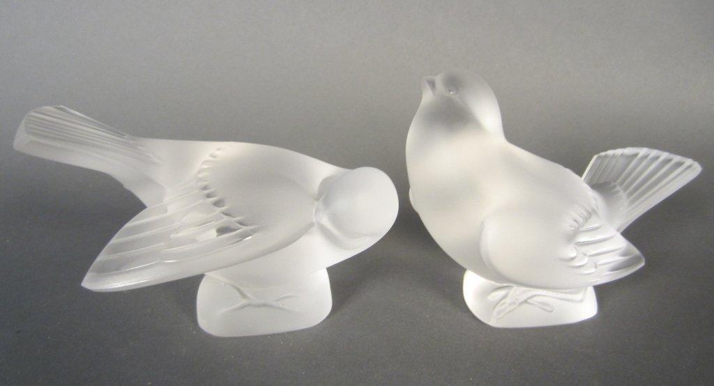 Pair of Lalique Birds