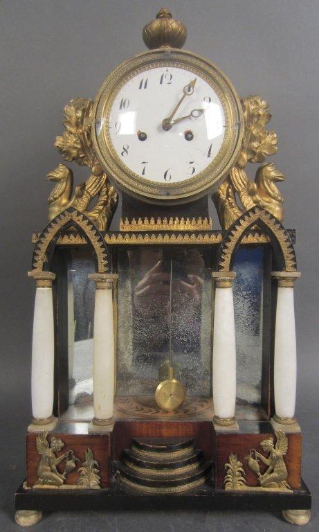 Biedermeier Clock, 19th C