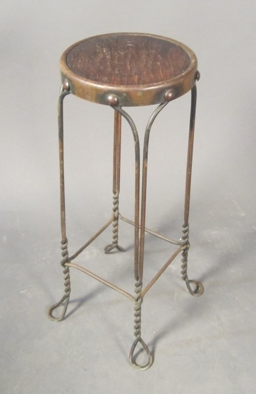 Steel and Wood Tambourine Stand