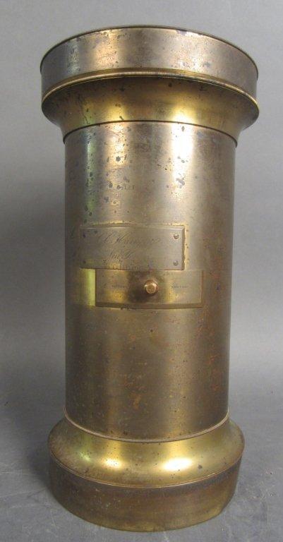 Large Antique Brass Lens C.C. Harrison