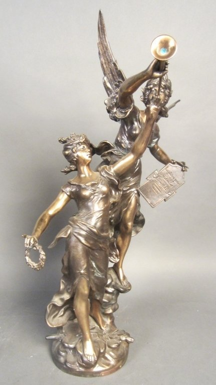 Moreau French Spelter Sculpture, 19th C