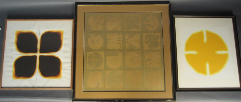 Collection of 3 Abstract Prints