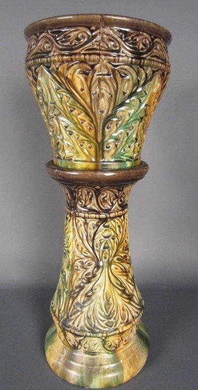 Roseville Blended Ceramic Planter and Stand