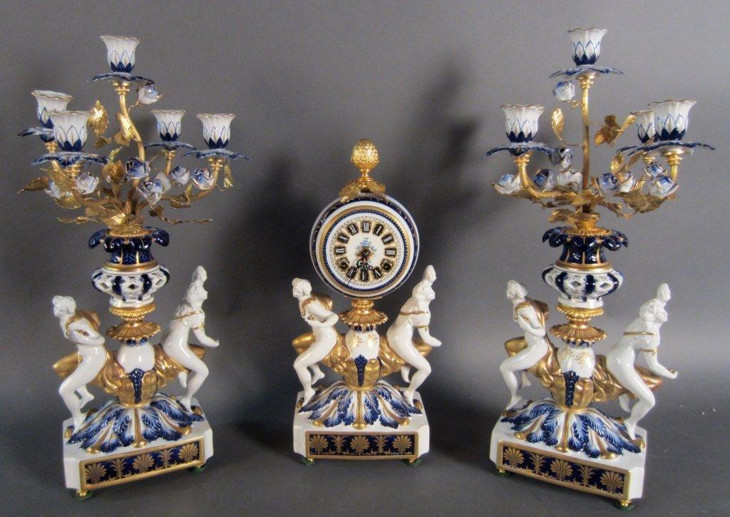 Sevres Porcelain Garniture Set