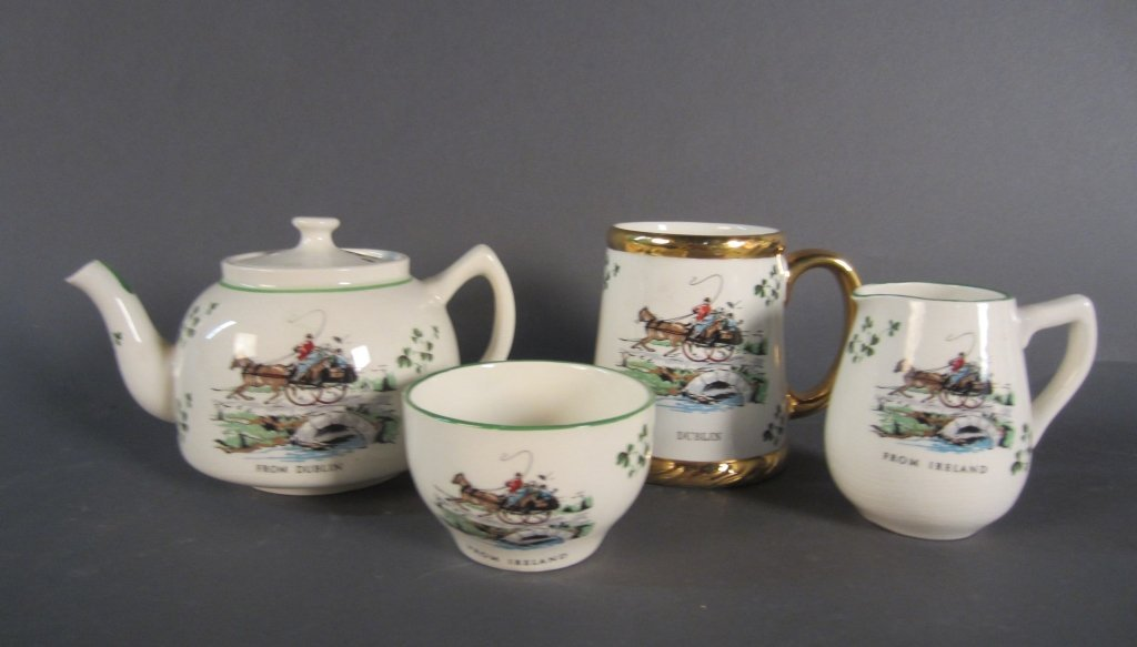 Collection of 4 Irish Porcelain Pieces