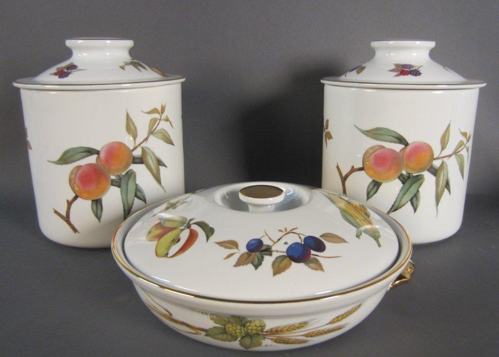 Royal Worcester Covered Vegetable Dish &  Jars