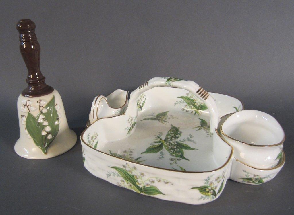 Porcelain Strawberry Basket Set