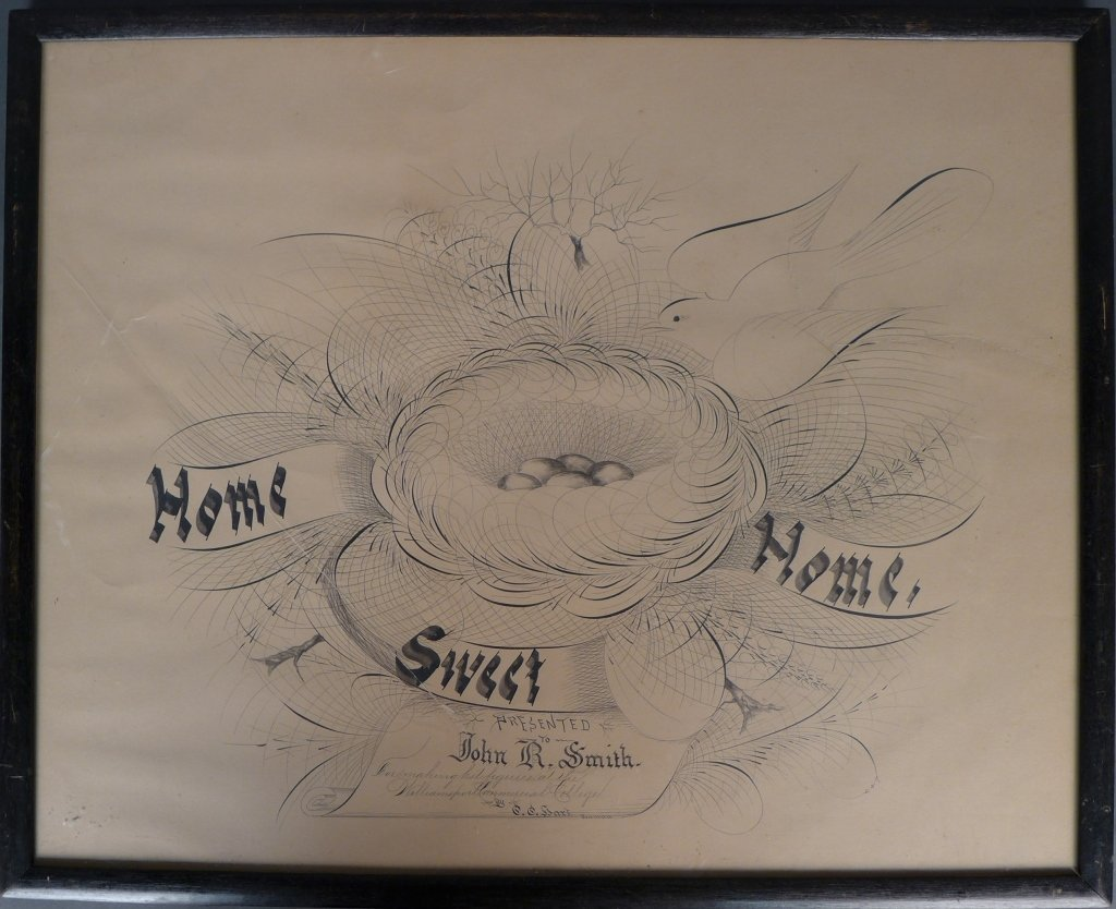 American Folk Art Calligraphy