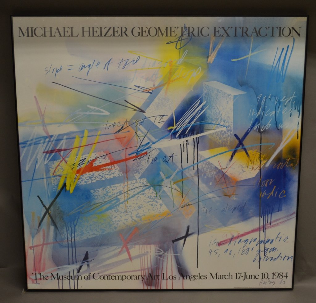 Michael Heizer Geometric Art Exhibition Poster
