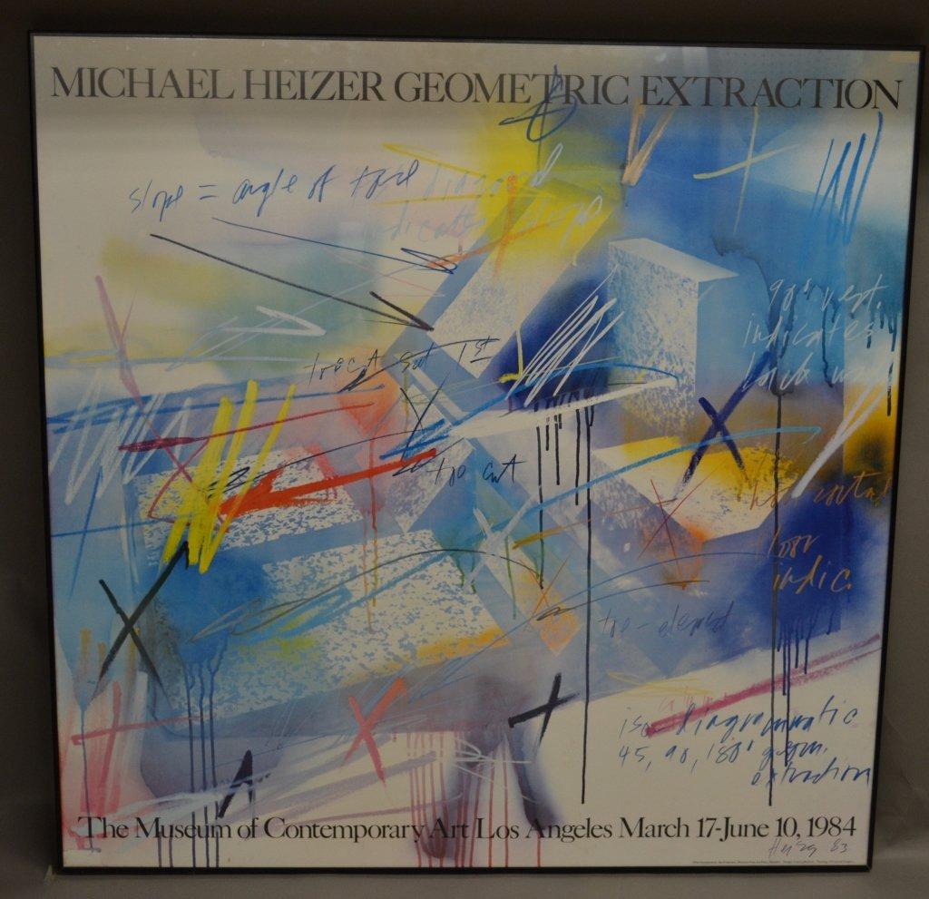 Michael Heizer Geometric Art Exhibition Poster - 2