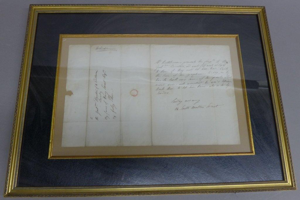 Framed Letter from Composer F. Kalkbrener