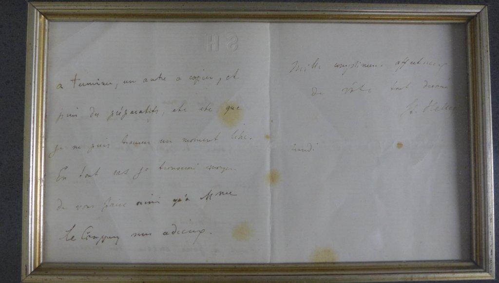 Framed Letter by Composer S. Heller - 3