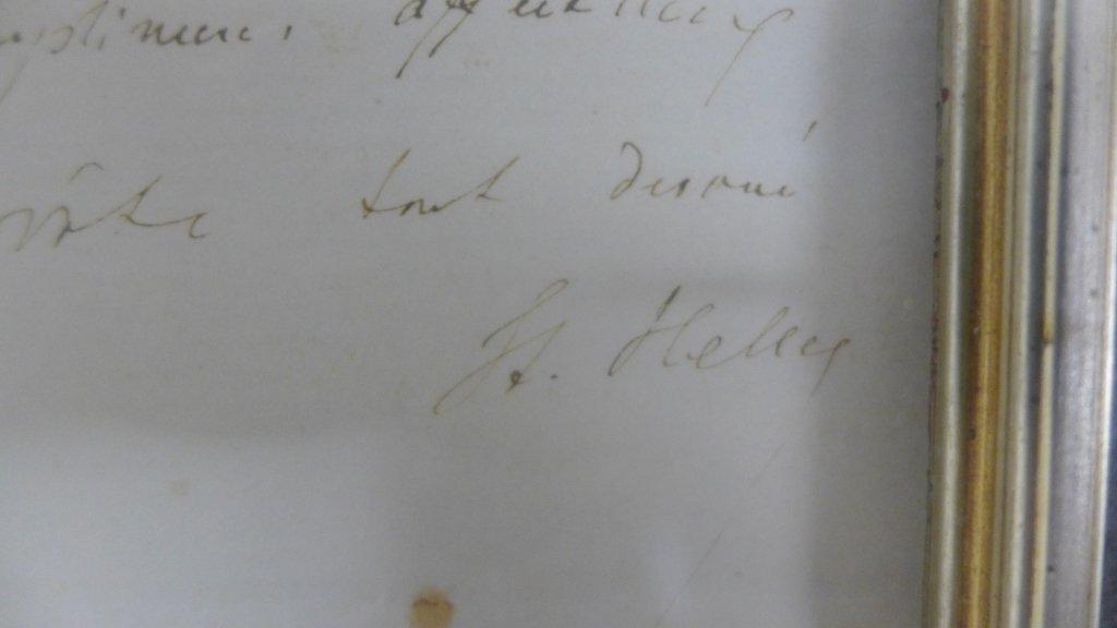 Framed Letter by Composer S. Heller - 5