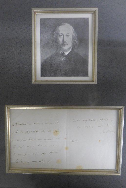 Framed Letter by Composer S. Heller - 6