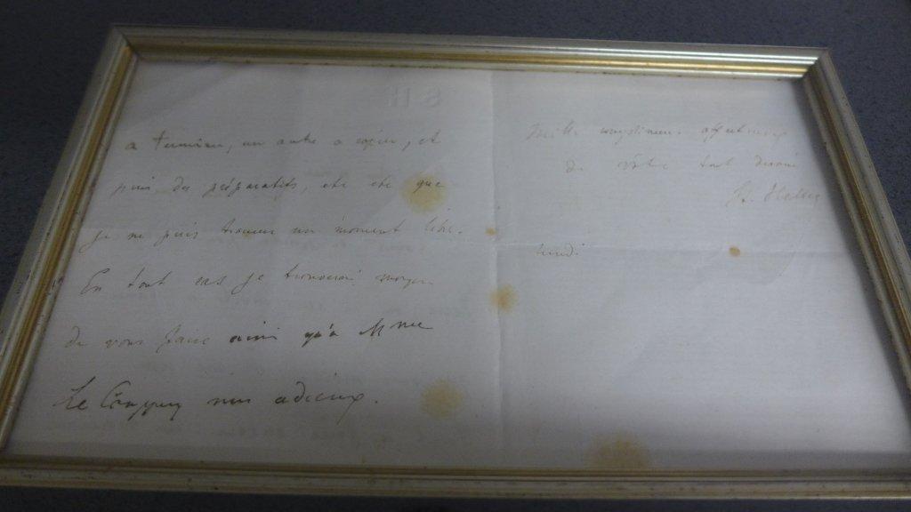 Framed Letter by Composer S. Heller - 7