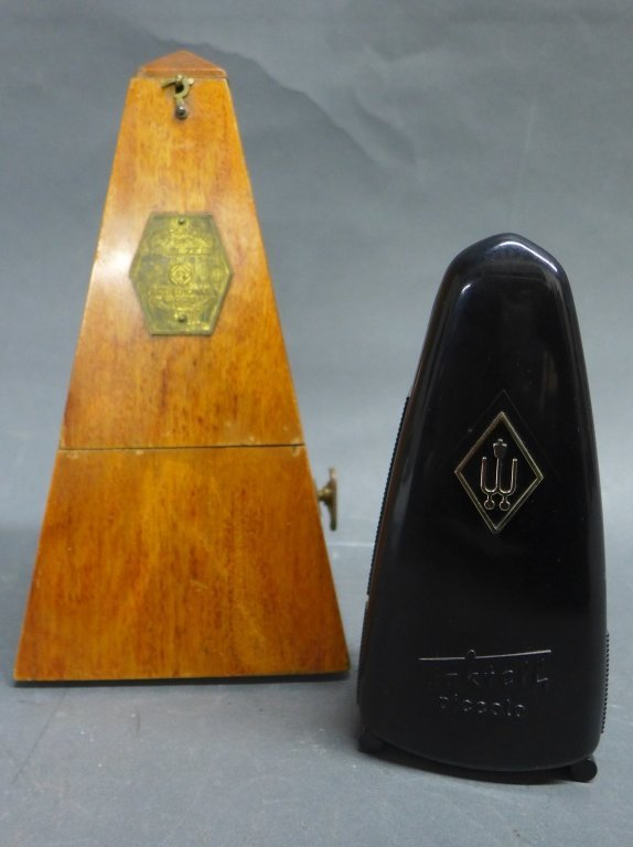 Two Vintage Metronomes