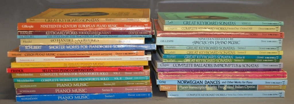 Collection of Classical Piano Composition Books