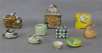 Grouping of 10 Asian Trinket Boxes