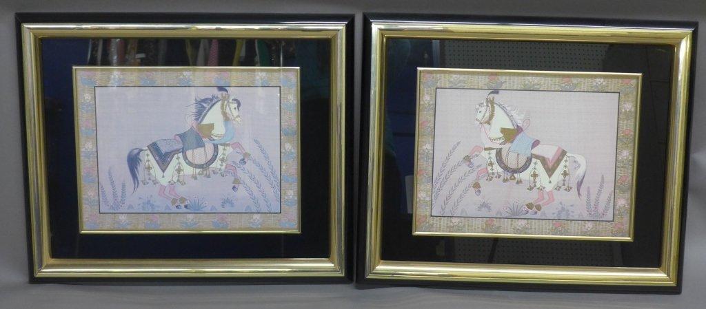 Pair Equestrian Framed Prints