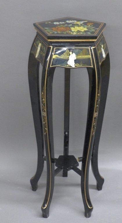 Black Lacquer Asian / Oriental Pedestal