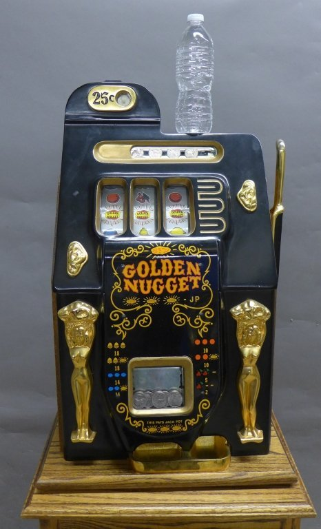 Golden Nugget Vintage Slot Machine with Stand - 2