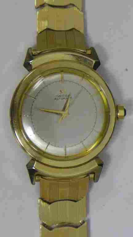 Mens 14k Gold Omega Automatic Seamaster
