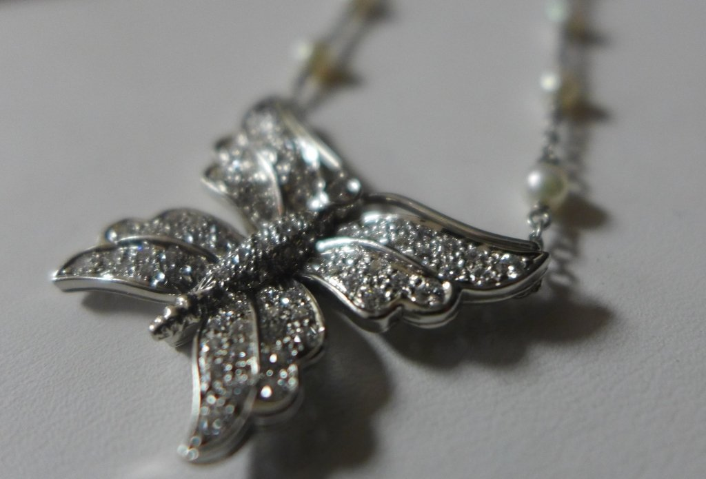 Tiffany and Company Platinum Butterfly Necklace - 10