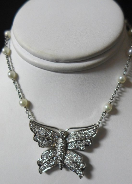 Tiffany and Company Platinum Butterfly Necklace