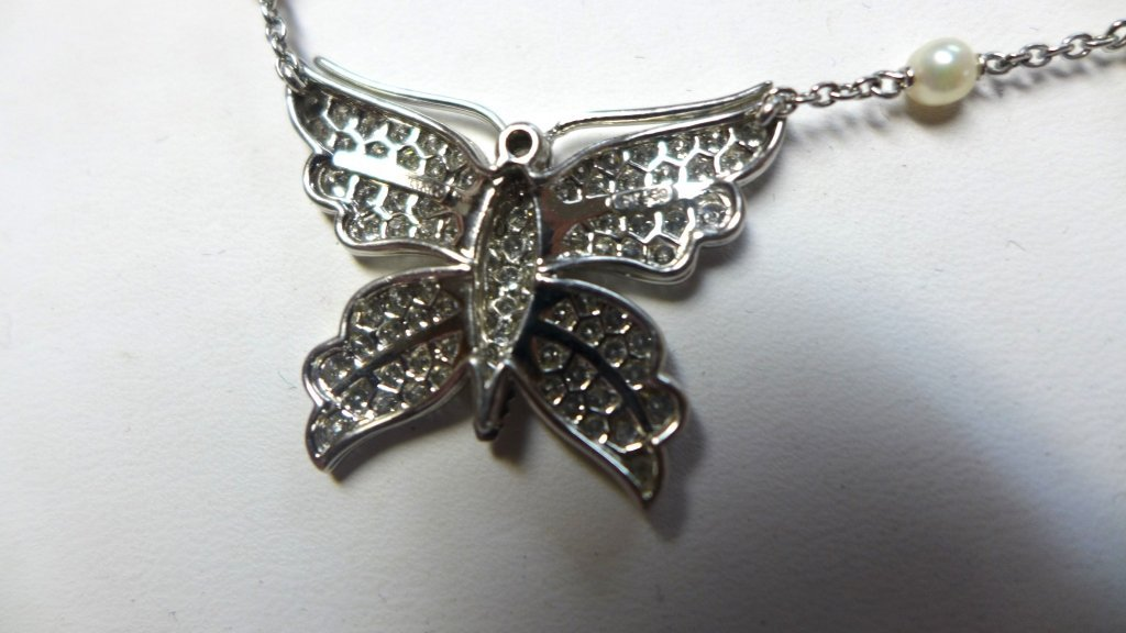 Tiffany and Company Platinum Butterfly Necklace - 8